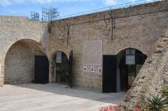 Remparts et demi-bastion 17 dit Fort Saint-André - English: Musee d'archeologique à Antibes, entrée
