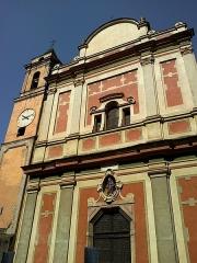 Eglise Santa-Maria-in-Albis et chapelle de la Miséricorde ou des Pénitents Noirs -  La Roya Breil Eglise Sancta Maria 05072015