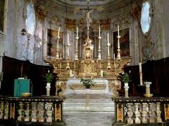 Eglise Santa-Maria-in-Albis et chapelle de la Miséricorde ou des Pénitents Noirs -  La Roya Breil Eglise Sancta Maria Choeur