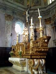 Eglise Santa-Maria-in-Albis et chapelle de la Miséricorde ou des Pénitents Noirs -  La Roya Breil Eglise Sancta Maria Choeur Autel