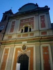 Eglise Santa-Maria-in-Albis et chapelle de la Miséricorde ou des Pénitents Noirs -  La Roya Breil Eglise Sancta Maria Entree Est
