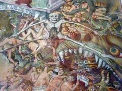 Chapelle Notre-Dame-des-Fontaines - Italiano: Dettaglio del Giudizio Universale, all'interno di Nostra Signora del Fontan, cappella montana del Duecento vicino a Briga Marittima, in Francia