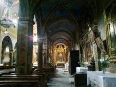 Eglise paroissiale Saint-Martin -  La Roya La Brigue Collegiale Saint-Martin Bas Cote Droit