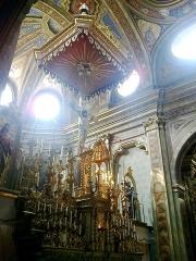Eglise paroissiale Saint-Martin -  La Roya La Brigue Collegiale Saint-Martin Choeur Autel Baldaquin
