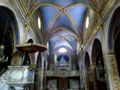 Eglise paroissiale Saint-Martin -  La Roya La Brigue Collegiale Saint-Martin Nef