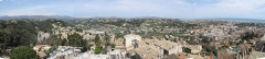 Château Grimaldi ou château de Cagnes - English: Panoramic view looking north from the Cagnes castle (Alpes-Maritimes, France).