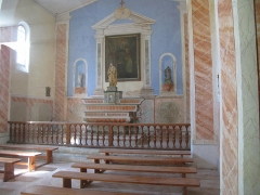 Fort, actuellement Musée de la Mer - English: Interior of the church of the fort-Royal of the Sainte-Marguerite island (Alpes-Maritimes, France).