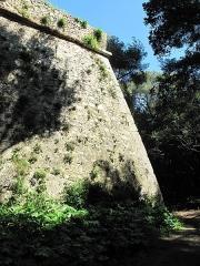 Fort, actuellement Musée de la Mer - English: Exterior wall of the fort-Royal of the Sainte-Marguerite island (Alpes-Maritimes, France).