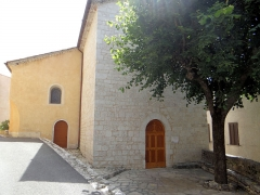 Eglise - Français:   Coursegoules - Église Sainte-Marie-Madeleine - Façade