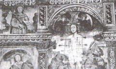 Chapelle Saint-Sébastien -  Détail des fresques intérieures