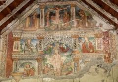 Chapelle Saint-Sébastien - Français:   Entraunes - Chapelle Saint-Sébastien - Fresque peinte en 1516 par Andrea de Cella