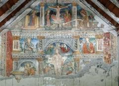 Chapelle Saint-Sébastien - Français:   Entraunes - Chapelle Saint-Sébastien et Saint-Roch - Ensemble de la peinture