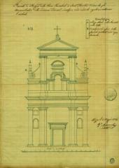 Eglise Saint-Martin -  Projet pour la façade de l'église St Augustin dans le vieux-Nice