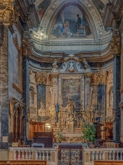 Eglise Saint-Martin - English: Altar in the church of St.Martin and St.Augustin in Nice
