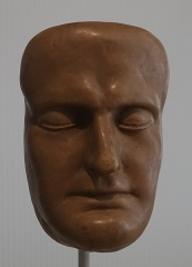 Musée Masséna - English: Death mask Napoleon 1 Musee de Musée Masséna (Nice), by Archibald Arnott, in wax, 1821