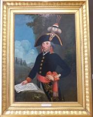 Musée Masséna - Nice (Alpes-Maritimes, France), sur la promenade des Anglais, la Villa (palais plutôt) Masséna, siège du musée du même nom. Portrait d'André Masséna en uniforme de général de division en 1796, acheté en 1919 par le prince Victor Masséna, son petit-fils.