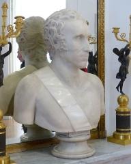 Musée Masséna - Nice (Alpes-Maritimes, France), sur la promenade des Anglais, la Villa (palais plutôt) Masséna, siège du musée du même nom. Buste d'André Masséna.
