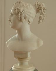 Musée Masséna - Nice (Alpes-Maritimes, France), sur la promenade des Anglais, la Villa (palais plutôt) Masséna, siège du musée du même nom. Buste en marbre de Pauline Borghese, sœur de Napoléon Ier, d'après la célèbre statue d'Antonio Canova.