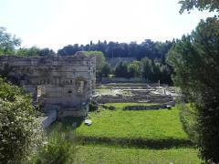 Thermes romains de Cimiez, dans le domaine de la villa Garin de Cacconata -  Les ruines