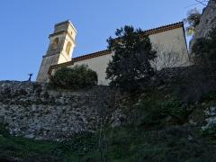 Eglise du Vieux Pierrefeu - Français:   Pierrefeu - Église Saint-Sébastien-Saint-Martin de Vieux-Pierrefeu - Côté nord