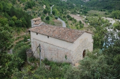 Eglise Sainte-Pétronille - Français:   Chapelle au dessus de Roquestéron-Grasse