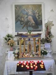 Chapelle de Saint-Hospice - English: Lateral chapel of the Saint-Hospice chapel in Saint-Jean-Cap-Ferrat (Alpes-Maritimes, France).
