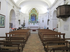 Chapelle de Saint-Hospice - English: Nave of the Saint-Hospice chapel in Saint-Jean-Cap-Ferrat (Alpes-Maritimes, France).