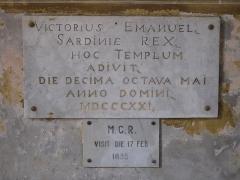 Chapelle de Saint-Hospice - English: Plaque of the Saint-Hospice chapel in Saint-Jean-Cap-Ferrat (Alpes-Maritimes, France).