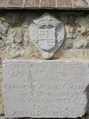 Chapelle de Saint-Hospice - English: Plaque near the chapel Saint-Hospice in Saint-Jean Cap-Ferrat, Alpes-Maritimes, France