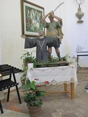 Chapelle de Saint-Hospice - English: Statue of Saint-Hospice in the eponym chapel in Saint-Jean-Cap-Ferrat (Alpes-Maritimes, France).