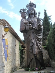 Chapelle de Saint-Hospice - English: Statue of the Virgin and Her Child of the chapel Saint-Hospice in Saint-Jean-Cap-Ferrat, Alpes-Maritimes, France