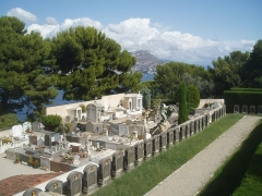 Chapelle de Saint-Hospice - English: Belgian war cemetery 1914-18 at ChapelleSaint-Hospice in Saint-Jean-Cap-Ferrat