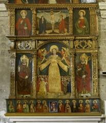 Eglise - Français:   Eglise St-Martin - Retable de la Vierge de Miséricorde par Francesco Brea (1555)