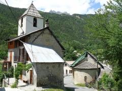 Eglise - Français:   Saint-Martin-d\'Entraunes - Eglise Saint-Martin et clocher