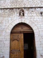 Eglise de la Conversion de Saint-Paul -  The entrance to the church of Saint-Paul de Vence, Alpes-Maritimes department, France.