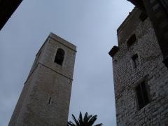 Eglise de la Conversion de Saint-Paul -  The donjon and town hall of Saint-Paul de Vence, Alpes-Maritimes department, France.