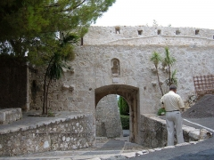 Porte de la ville -  A section of the walls around Saint-Paul de Vence, Alpes-Maritimes department, France.