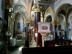 Eglise Saint-Sauveur et chapelle des Pénitents blancs ou de Saint-Jacques -  La Roya Saorge Eglise Saint-Sauveur Choeur Chair