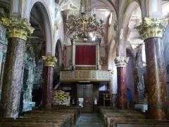 Eglise Saint-Sauveur et chapelle des Pénitents blancs ou de Saint-Jacques -  La Roya Saorge Eglise Saint-Sauveur Nef Orggues