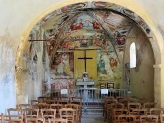 Chapelle Notre-Dame d'Entrevignes - Français:   Sigale - Chapelle Notre-Dame-d\'Entrevignes - Nef