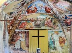 Chapelle Notre-Dame d'Entrevignes - Français:   Sigale - Chapelle Notre-Dame-d\'Entrevignes - Peintures murales du chevet