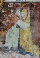 Chapelle Notre-Dame d'Entrevignes - Français:   Sigale - Chapelle Notre-Dame-d\'Entrevignes - Peinture du chevet: Rencontre d\'Anne et de Joachim près de la Porte Dorée