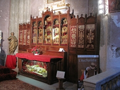 Eglise Saint-Michel - English: Altar in the interior of the cathedral of Sospel, Alpes-Maritimes, France.