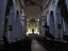 Eglise Saint-Michel - English: Interior of the cathedral of Sospel, Alpes-Maritimes, France.