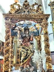 Eglise Saint-Martin - Français:   La Tour - Eglise Saint-Martin - Statue de la Vierge à l\'Enfant sous son superbe dais de procession.