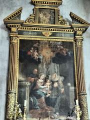 Eglise Saint-Martin - Français:   La Tour - Eglise Saint-Martin - Retable de l\'Adoration de l\'Enfant Jésus par un franciscain de Barthélémy Puppo de Menton (1662)