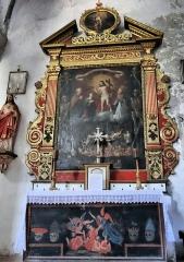 Eglise Saint-Martin - Français:   La Tour - Eglise Saint-Martin - Retable des Âmes du Purgatoire par Bartolome (1662)