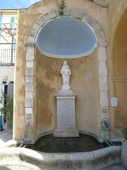 Sanctuaire de Laghet - English: The fountain in front of the monastery of Notre-Dame-de-Laghet (Alpes-Maritimes, France).