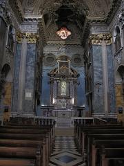 Sanctuaire de Laghet - English: Nave of the church of Notre-Dame-de-Laghet (Alpes-Maritimes, France).
