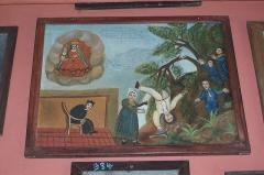 Sanctuaire de Laghet - English: Ex-voto at Notre Dame de Laghet (La Trinité, Alpes Maritimes, France)
